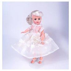 """Platinum 10 1/2"""" Fashion Doll from the 1950's"""