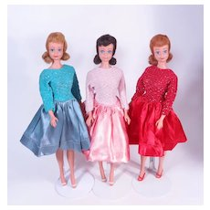 Red Brunette Blonde Midges with OSS and Matching Dresses