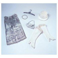 Mod Barbie Clone Silver Go Go Dress & Accessories