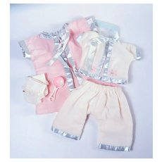 Betsy Wetsy, Dy-Dee & Tiny Tears Flannel with Satin Trim Sleep Set