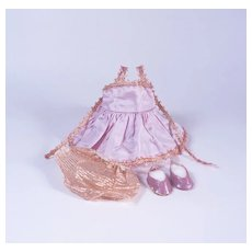 """Lavender and Gold Ballerina Costume for 8"""" Dolls"""