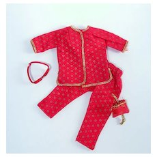 """Vintage Lounging Outfit for 10 1/2"""" Dolls"""
