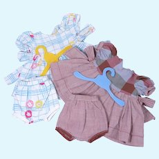 Hard Plastic Doll Vintage Dresses with Matching Bloomers