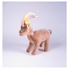 Vintage Steiff Mountain Goat Ram Plush Animal