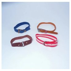 HTF Ken's Casual Cords, Red White Wild and Additional Belts by Mattel
