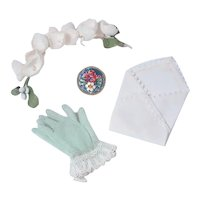 Vintage Gloves, Handkerchief and Pin for Cissy by Madame Alexander