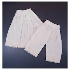 Vintage Matching Doll Pantaloons and Slip