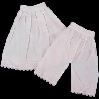 Vintage Matching Doll Pantaloons and Slip
