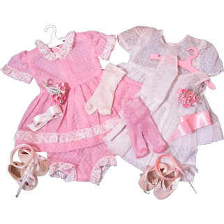 """Vintage Outfits for 16"""" Young Girl Dolls"""