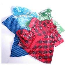 Vintage Vinyl Raincoats and Ponchos