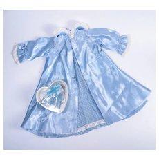 Vintage Blue Peignoir Set and Accessories