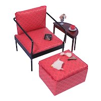 Vintage Watko Chair and Ottoman for Cissette