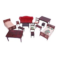 Renwal Dollhouse Furniture Brown Collection