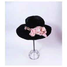 Vintage Velvet Doll Hat