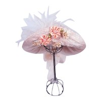 Silk and Straw Doll Hat