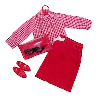 Tammy Red Pak Skirt Outfit by Ideal