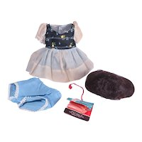 Ideal Betsy McCall Original Wig Outfit and Hang Tag