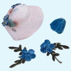 Alexander-Kins Cousin Karen Hat and Purse by Madame Alexander 1956