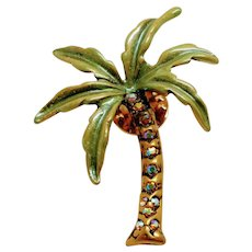Wonderful Kirks Folly rhinestone enamel Palm Tree