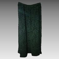 Vintage 1900s Edwardian Black  Mourning Skirt Full Length with back scoop