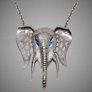 1970s Huge signed Celebrity Elephant Necklace