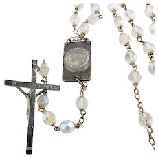 Crystal Rosary ~ Mother Mary Church Scene ~  Holy water