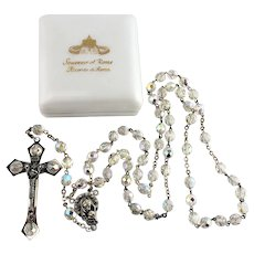 Intricate Ricordo Di Roma Crystal Rosary Jesus Children