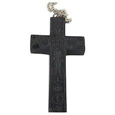 Bog Oak Cross Pendant