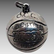 1937 CCC SUB DIS 8  Basketball Championship Award Sterling Charm