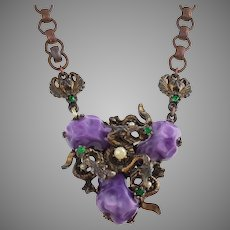 Early Unsigned Selro Selini Dragons and Gargoyle Necklace
