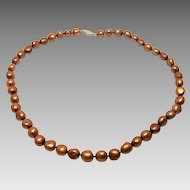 14K Cultured Chocolate Pearl Necklace