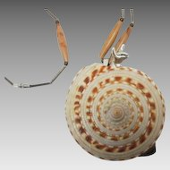 """Florenza """"Snail in a Real Shell""""  necklace"""