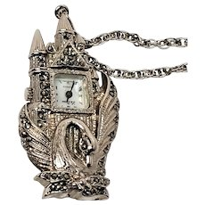 Le Baron Castle Swan Pendant Watch
