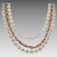 "Sarah Coventry ""Golden Ice"" Necklace"