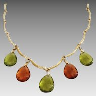 """Sarah Coventry """"Ember Tears"""" necklace 1975"""