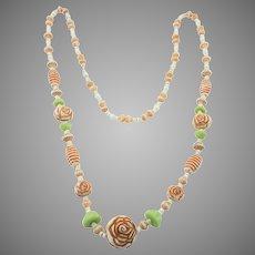 Long Art Deco Era Neiger Bros. Czech Glass Bead Necklace