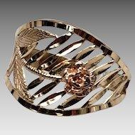 Lovely Diamond cut Black Hills Gold Rose Ring 7.75