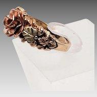 10K Black Hills Gold Rose ring 6.75