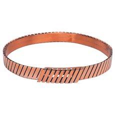 Renoir Modernist Linear Lines Copper Belt SZ Small
