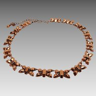 "Signed Renoir ""Bows"" choker necklace"
