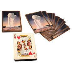 """Yellowstone National Park"" Souvenir Playing Cards"