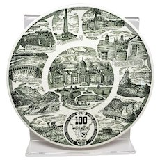 100 Year Anniversary Montana Plate 1864 to 1964 by Kettle Springs