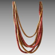 """1980's """"Naturals"""" Style Runway Necklace"""