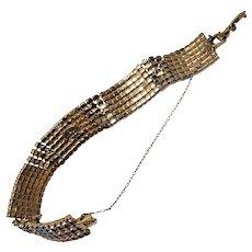 Vintage Dorthy Bauer Patriotic American Flag Swarovski Crystal Tennis Bracelet