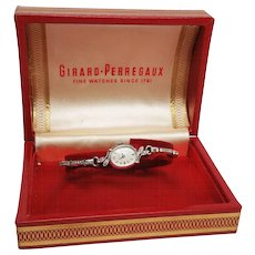 Girard - Perregaux Ladies Watch in 14K White Gold and Diamonds w stretch band - Red Tag Sale Item
