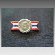 Sterling and Enamel pin ARMY-NAVY Production AWARD
