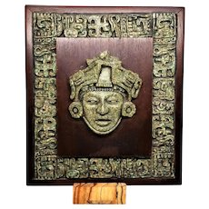 Aztec Mayan Chip Stone 3 D Picture