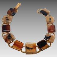 Wonderful simple vintage Moss Agate bracelet