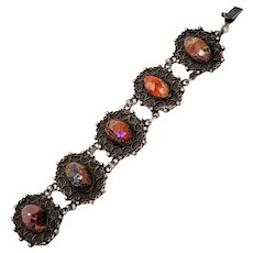 980 Silver Boulder Opal Bracelet