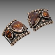 Sterling Mexican Fire Agate Watch band